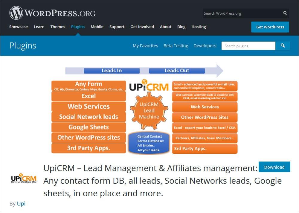 UpiCRM  Lead Management & Affiliates management