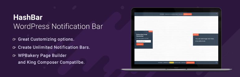 HashBar WordPress Notification Bar