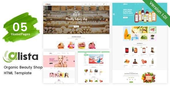 Alista Organic Beauty Shop HTML Template