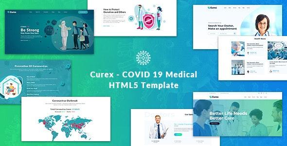 Curex COVID 19 Medical HTML5 Template