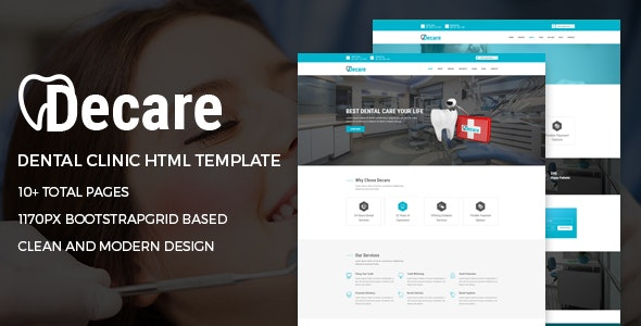 Decare Dental Clinic Medical HTML Template