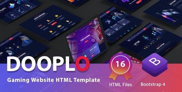 Dooplo Gaming Website HTML Template