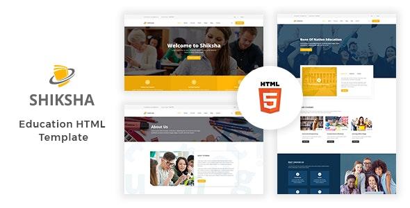 Education HTML Template Shiksha