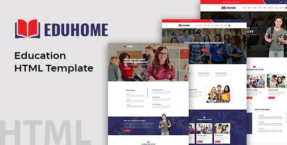 Eduhome Education HTML Template