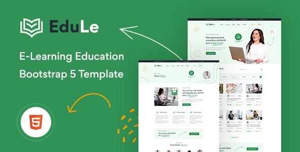 Edule eLearning Website Template