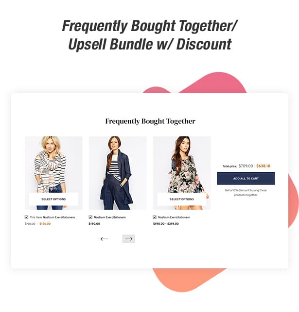 Upsell feature in the Ella Shopify theme