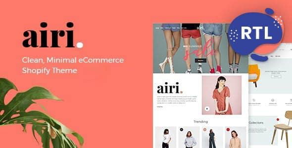 Minimal Shopify Theme Airi