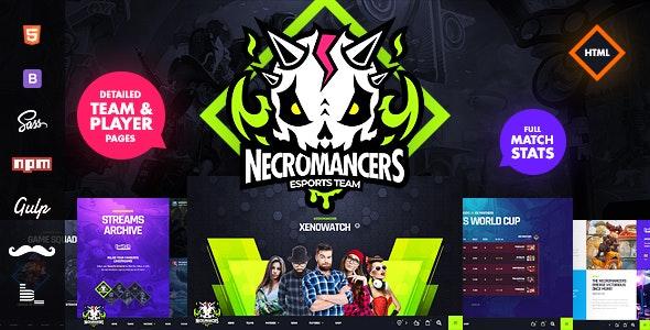 Necromancers eSports Team HTML Template