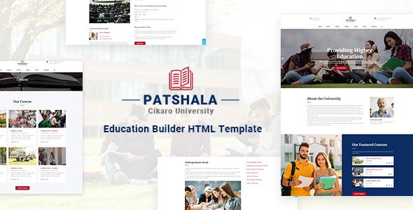 Patshala Education HTML Template with Page Builder