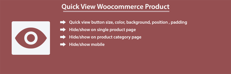 Quick View Woocommerce Product