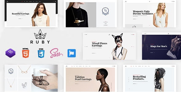 Ruby Jewelry Store eCommerce HTML Template