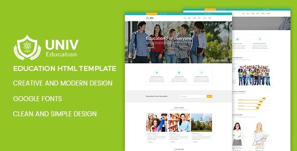 Univ Education HTML Template