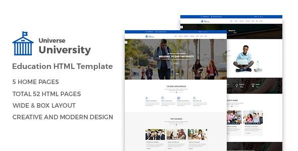 Universe Education HTML Template