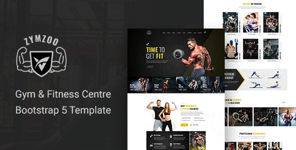 Zymzoo Gym & Fitness Centre Bootstrap 5 Template