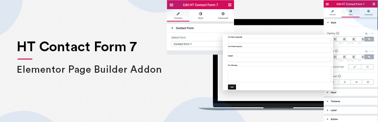 Contact Form 7 Widget For Elementor Page Builder