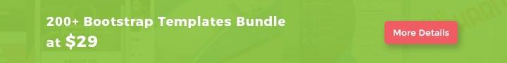 200 Bootstrap Templates Bundle