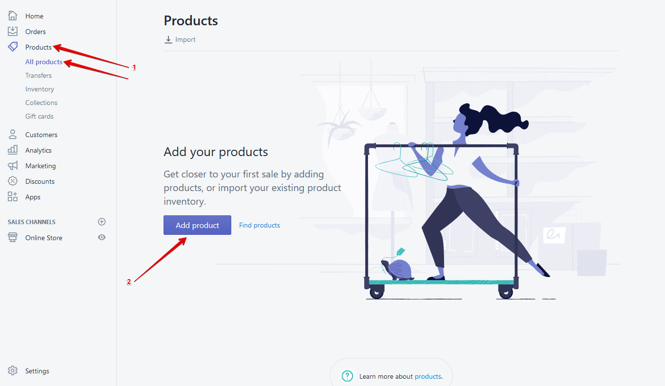 How to add products in a Shopify store
