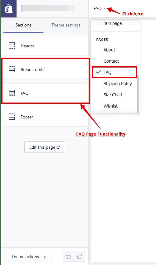 customize shopify faq page