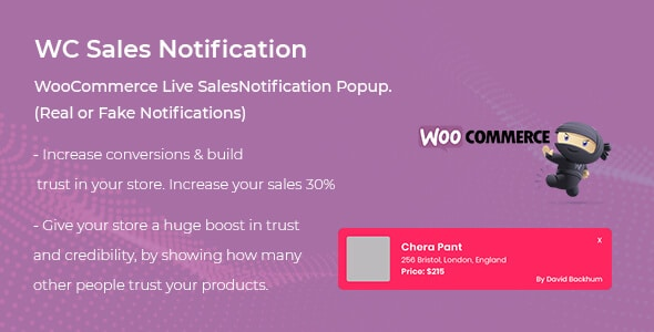 woocommerce live sales notification plugin
