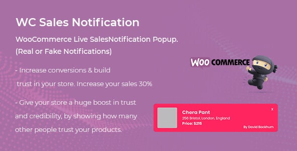 WooCommerce Live Sales Notification Pro