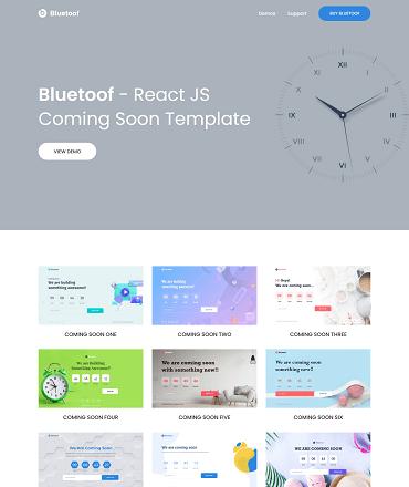 Bluetoof Coming Soon React Template