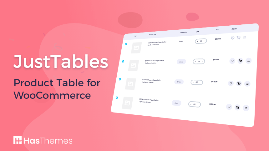 JustTables - Product Table for WooCommerce | woocommerce product table