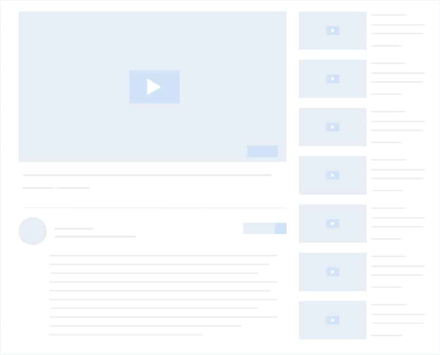 docus youtube video playlist layout three placholder