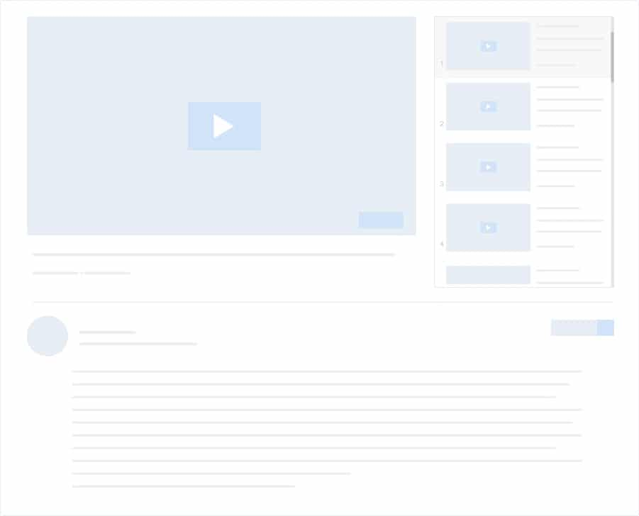 docus youtube video playlist layout two placholder