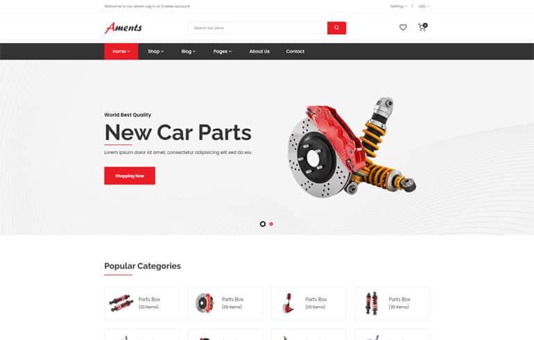 Aments - Car Accessories Shop Shopify Theme