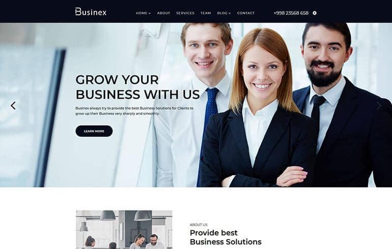 Businex - React Corporate Business Template