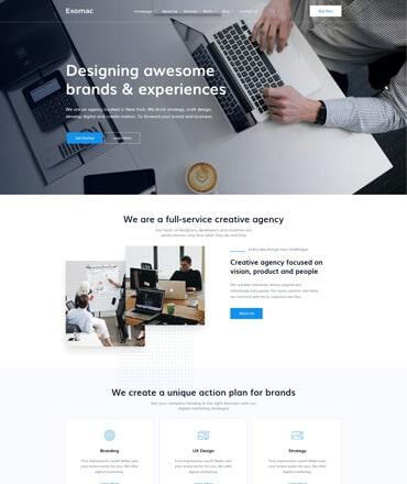Exomac – Business React JS Template