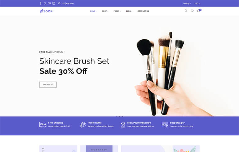 Looki – Beauty & Cosmetics eCommerce Shopify Theme