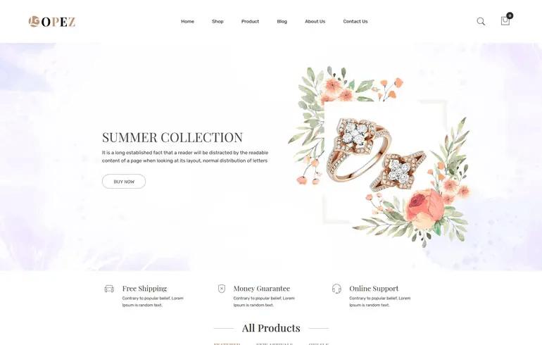 Lopez - Jewelry Shopify Theme