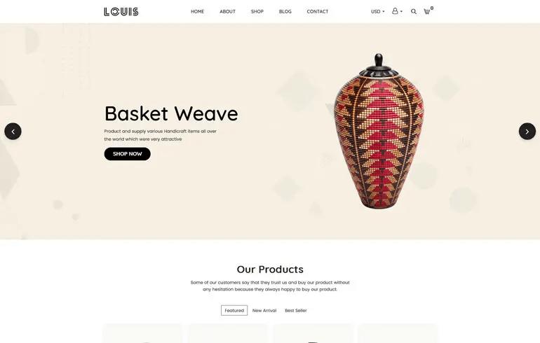 Louis - Handmade & Craft Shopify Theme
