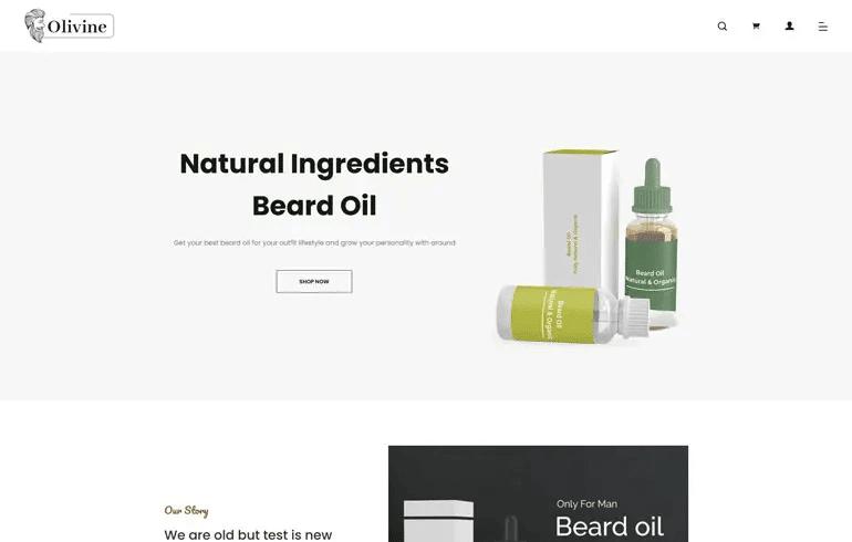 Olivine - Responsive Beard Oil Shopify Theme