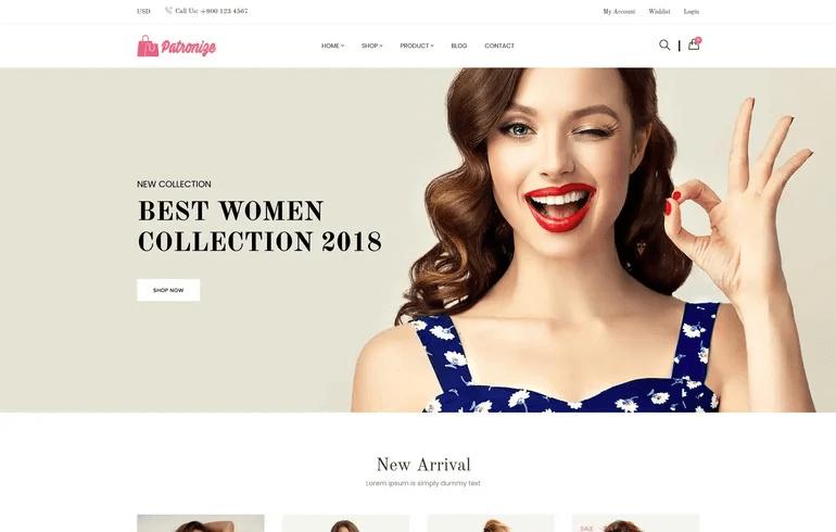 Patronize - Fashion Shopify Theme