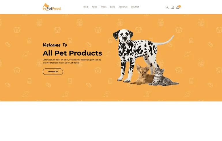 Petfood - Minimalist ECommerce Shopify Theme