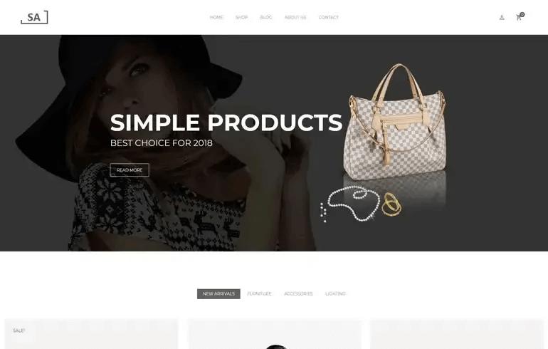 Sa - Minimalist Shopify Theme