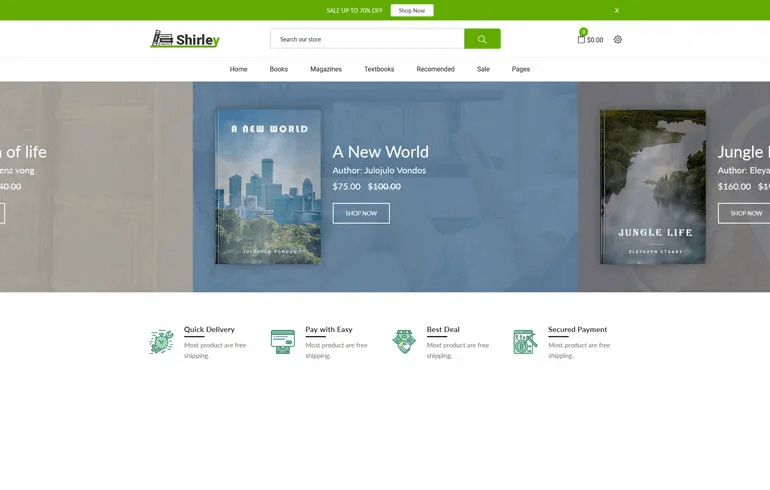 Shirley - Book Store Shopify Theme