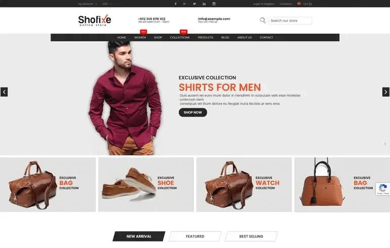 Shofixe - Fashion Shopify Theme