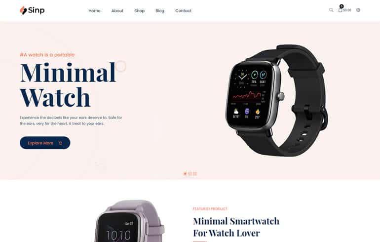 Sinp – Single Product Multipurpose Shopify Theme