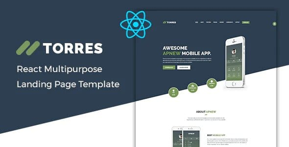 Torres - App Landing React Template