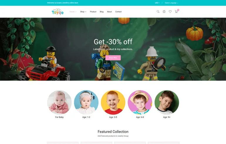 Toyqo - Toys & Kids Store Responsive Shopify Theme