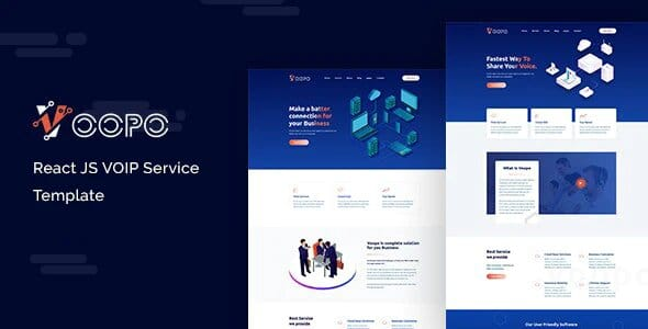 Voopo- React JS VOIP Service Template